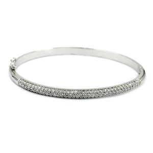 Fashion silver micro small crystal bracelet